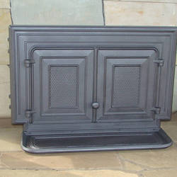 Double door for stoves, stone ovens etc.