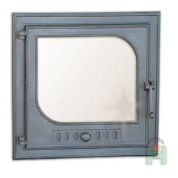 Square door with glass at 485 × 485